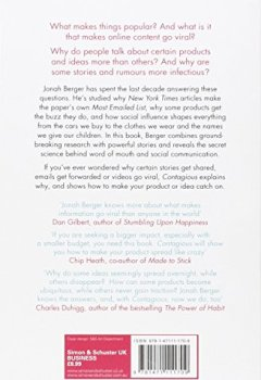 Livres Couvertures de Contagious: How to Build Word of Mouth in the Digital Age