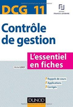 abf4171d2eb Livres Couvertures de DCG 11 - Contrôle de gestion - L essentiel en fiches
