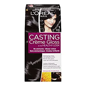l oreal healthy look creme gloss hair color 1 rich black double espresso