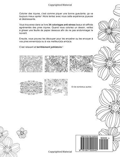 Telecharger Mon cahier d'injures à colorier: Le premier cahier de coloriage pour adultes avec gros mots, insultes & jurons de Procrastineur