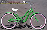 Women's Brisa 3-Speed Cruiser Bike Color: Apple Green/Pink