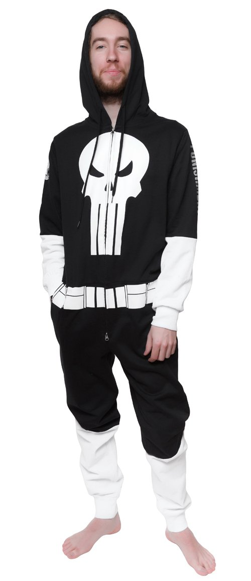 One Piece Sweatsuit - Marvel Punisher - Zipper Costume Jumpsuit