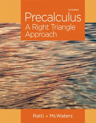 321912764 – Precalculus: A Right Triangle Approach (3rd Edition)