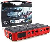 CAR ROVER ジャンプスターター バッテリーレスキュー 26000mAh マルチチャージャー 車用バッテリー充電器 カーエンジンスターター 緊急始動 モバイルバッテリー 非常用電源 パソコン/スマホ/iPhone緊急充電 LEDライト付き