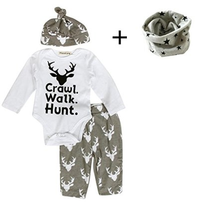 FEITONG-Newborn-Infant-Baby-Boys-Print-Romper-TopsLong-Pants-Hat-0-3-Months