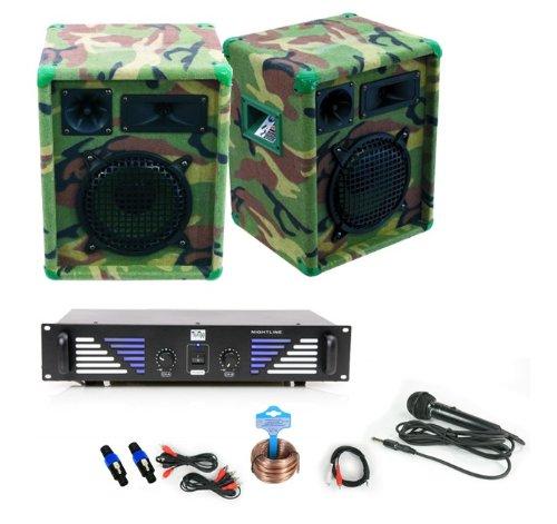 600W PA Komplettanlage Boxen + Verstärker DJ-33