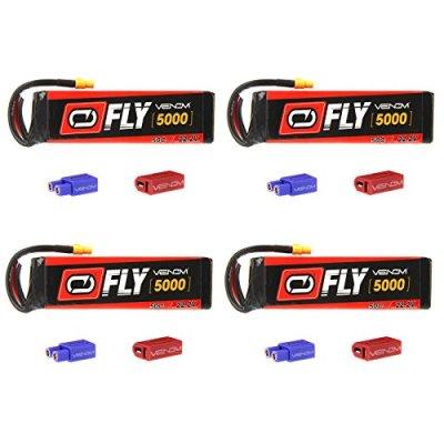 Venom-Fly-50C-6S-5000mAh-222V-LiPo-Battery-with-UNI-20-Plug-XT60DeansEC3-x4-Packs-Compare-to-E-flite-EFLB40006S30