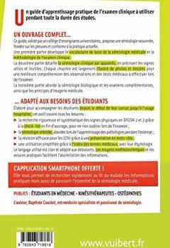 Livres Couvertures de Sémiologie médicale - L'apprentissage pratique de l'examen clinique