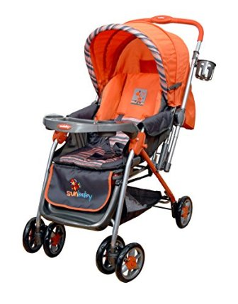 Sunbaby SB-200A Blue Circle Stroller (Orange)