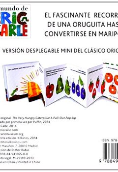 Portada del libro deLa Pequeña Oruga Glotona Desplegable Mini (Eric Carle Spanish)