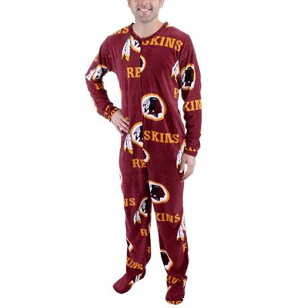 Washington Redskins Guys Onesie Footie Pajama for men