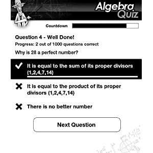 Ultimate Algebra Quiz (A Math Quiz Game for Kindle) by HandyX