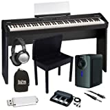 Roland FP-4F Black Digital Piano BUNDLE+ w/ Subwoofer, Bench & Stand
