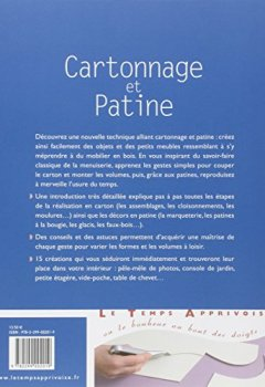 Cartonnage et patine