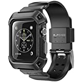 Apple Watch Case, SUPCASE [Unicorn Beetle Pro] Rugged Protective Case with Strap Bands for Apple Watch / Watch Sport / Watch Edition 2015 [42mm, Not Compatible with 38 mm] (Black)