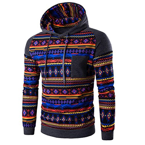 TOPUNDER Herren Kapuzenpullover Bohemian Sweatshirt Tops JackenMantel Outwear