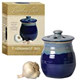 Tumbleweed Pottery Garlic Clove Canister Keeper with Vented Lid