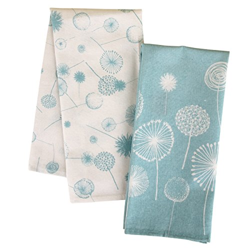 Karma Gifts Dandelion Tea Towel, Light Blue