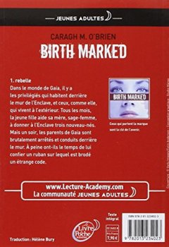 Livres Couvertures de Birth Marked - Tome 1 - Rebelle