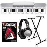 Korg SP-170s White Digital Piano ESSENTIALS BUNDLE w/ Stand