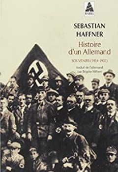 Livres Couvertures de Histoire D'un Allemand : Souvenirs 1914 1933