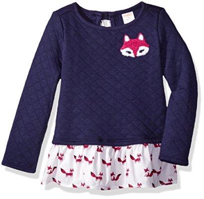 Gymboree-Girls-Toddler-Girls-Fox-Peplum-Tunic-Oxford-Blue-4T