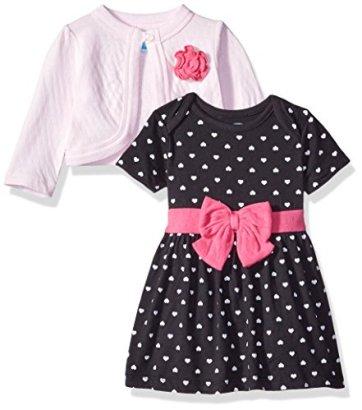 BON-BEBE-Baby-Girls-Hearts-2-Piece-Dress-and-Cardigan-Set