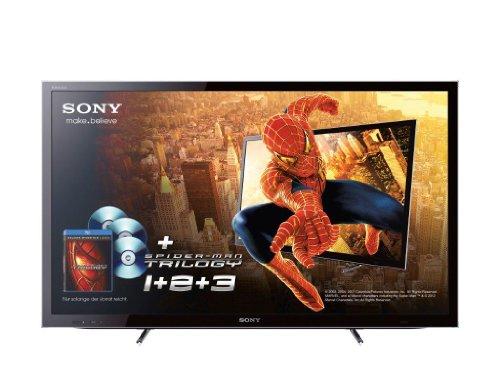 Sony Bravia KDL40HX755 102 cm (40 Zoll) 3D LED-Backlight-Fernseher, Energieeffizienzklasse A (Full-HD, Motionflow XR 400Hz, DVB-T2/C2/S2, Internet TV) inkl. Spiderman Trilogie schwarz