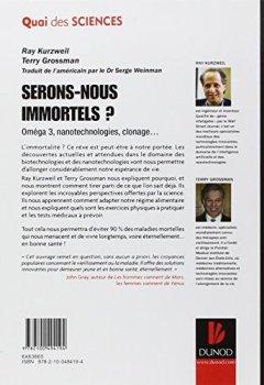 Livres Couvertures de Serons-nous immortels ? - Oméga 3, nanotechnologie, clonage...