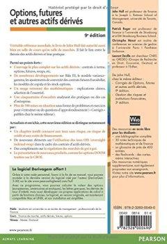 Livres Couvertures de Options, futures et autres actifs dérivés 9e édition