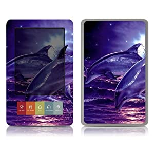 Bundle Monster Barnes & Noble Nook (Fit Nook Black & White Model Only) Ereader Vinyl Skin Cover Art Decal Sticker Protector Accessories - Dolphins