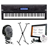 Casio WK500 AZP Personal Keyboard Package with Closed-Cup Headphones, Keyboard Stand, Power Supply, and Instructional Software