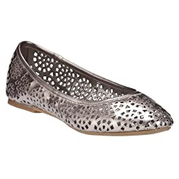 Product Image Women's Merona® Mary Chop-Out Ballet Flats - Pewter