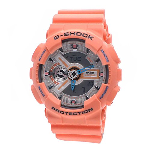s analog-digital peach resin strap watch,casio g-shock men,video review,(VIDEO Review) Casio G-Shock Men's Analog-Digital Peach Resin Strap Watch,