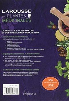Livres Couvertures de Larousse des plantes médicinales: Identification, préparation, soins - 500 plantes décrites - 1000 photographies