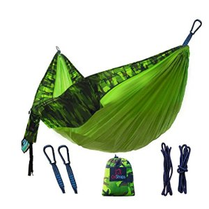 Camping-Hammock-Double-Ultralight-Gear-for-Outdoor-Hiking-Travel-Backyard-Backpacking-Accessories-Include-Nylon-Parachute-Hammocks-Rope-Straps-Carabiner-XL-Pouch-for-Easy-Equipment-Storage