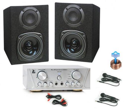 200W Karaoke Set Boxen Verstärker Mikrofone HIFI-Karaoke 18