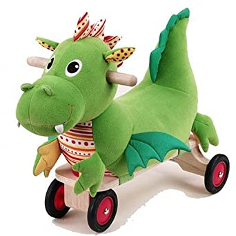 Puffy Dragon Plush Kid's Ride-on Toy