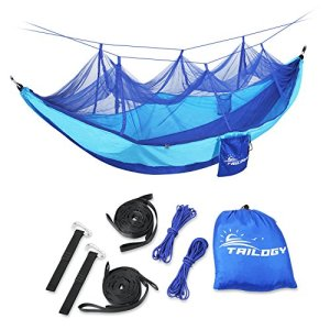 Reversible-Camping-Hammock-with-Mosquito-Net-including-Suspension-Strap-for-Backpacking-Travel-Beach-Yard-Blue