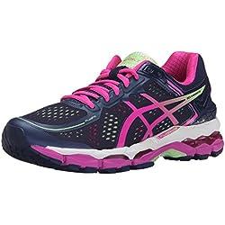 ASICS Women's Gel Kayano 22 Running Shoe, Indigo Blue/Pink Glow/Pistachio, 9.5 M US