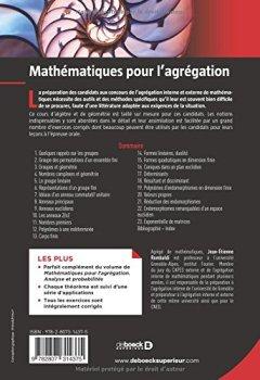 Livres Couvertures de Mathématiques pour l'agrégation : Algèbre & géométrie