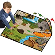 Neat-Oh! Dinosaur Prehistoric World 2-Sided Playmat w/ 2 Dinos