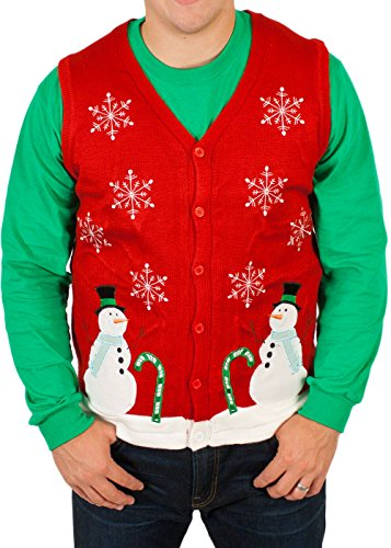 Lighted Winter Wonderland Sweater Vest with LED Lights – Ugly Christmas Sweater