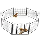 Oxgord Heavy Duty Metal Pet Dog Folding Exercise Playpen yard Wire Fence 8 Panel, 40 Inches