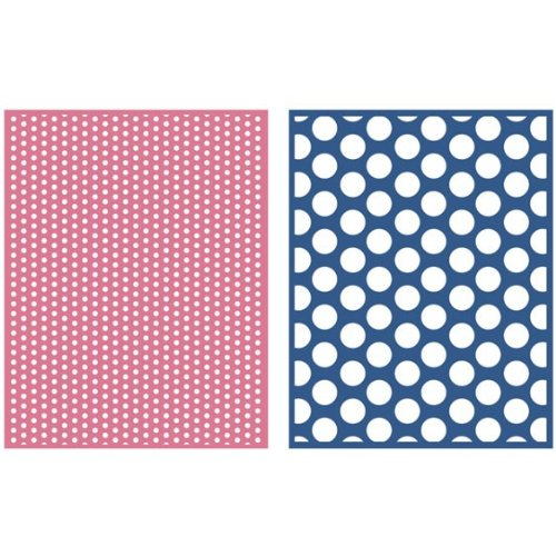 We R Memory Keepers Spotted 2-Pack Embossing Folder for Scrapbooking