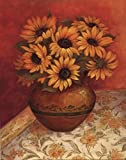 Tuscan Sunflowers I - mini Poster by Pamela Gladding (8.00 x 10.00)