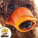 Alfie Pet by Petoga Couture - Matti Adjustable Quick Fit Nylon Mesh Muzzle - Color: Orange, Size: Small