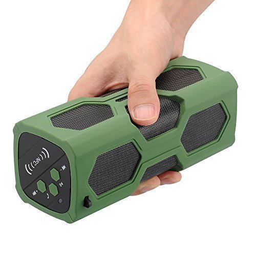 Waterproof Sport Speaker, Portable Wireless Speaker, Bluetooth Speakers 4.0 Built-in Mic 3600mah Rechargeable Battery 12 Playing Hours