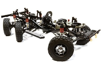 Integy-RC-Hobby-C25926BLACKT1-Billet-Machined-110-Size-Twin-Motor-Trail-Roller-6x6AWS-Scale-Crawler-ARTR