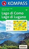 Kompass Karten, Lago di Como, Lago di Lugano: Wandern / Rad. Escursioni / bike. GPS-genau (Aqua3 Kompass)
